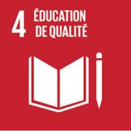 Objectif n°4 de l'Agenda 2030: Assurer l'accès de tous à une éducation de qualité, sur un pied d'égalité, et promouvoir les possibilités d'apprentissage tout au long de la vie